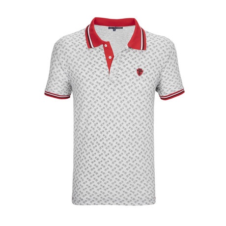 Highlands Polo Shirt SS // Gray + Red