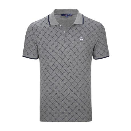 Atlanta Polo Shirt SS // Anthracite + Navy
