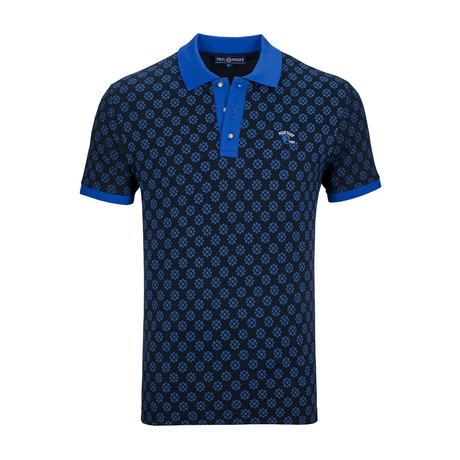 Springfield Short Sleeve Polo Shirt // Navy + Sax (S)