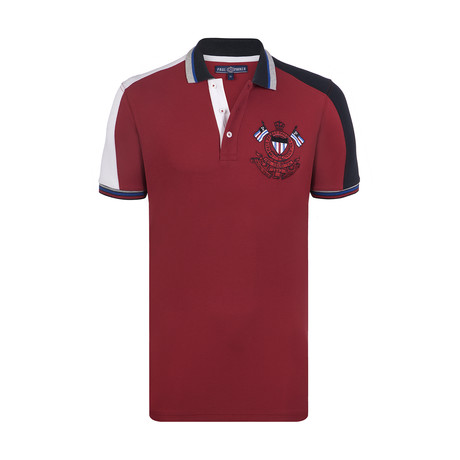 Ridgewood Short Sleeve Polo Shirt // Red + White + Black (S)