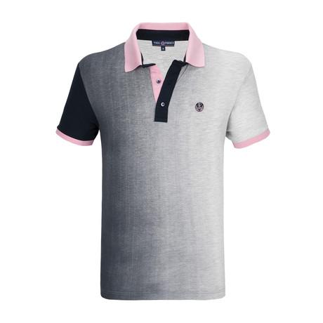 Ramsey Polo Shirt SS // Gray + Navy