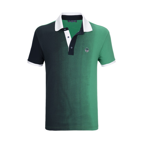 Bridgehampton Polo Shirt SS // Green + Navy