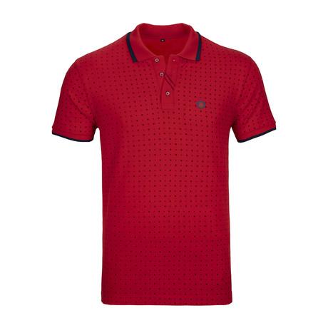 Trenton Polo Shirt SS // Red + Navy