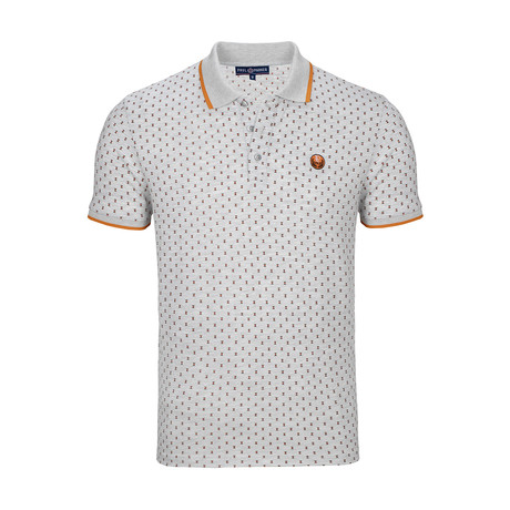 Newark Polo Shirt SS // Gray + Orange (S)