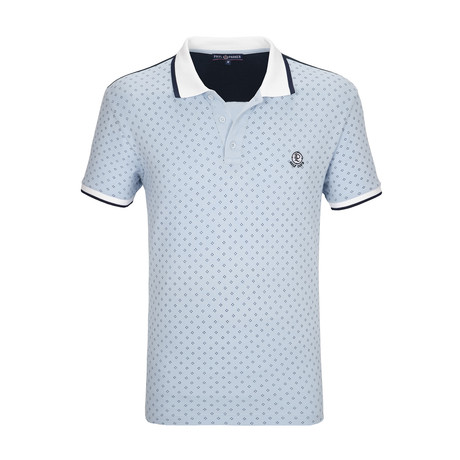 Lagunitas Polo Shirt SS // Blue + Navy