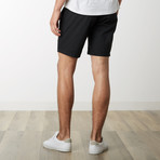 Cotton Stretch Casual Drawstring Shorts // Black (L)