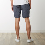 Cotton Stretch Casual Drawstring Shorts // Dark Gray (M)