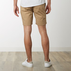 Cotton Stretch Casual Drawstring Shorts // Khaki (M)