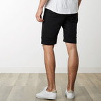 Slant Zipper Accent Sweatshorts // Black (M)