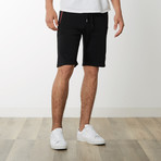 Two-Tone Zipper Sweatshorts // Black (S)