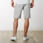 Two-Tone Zipper Sweatshorts // Heather Gray (XL)