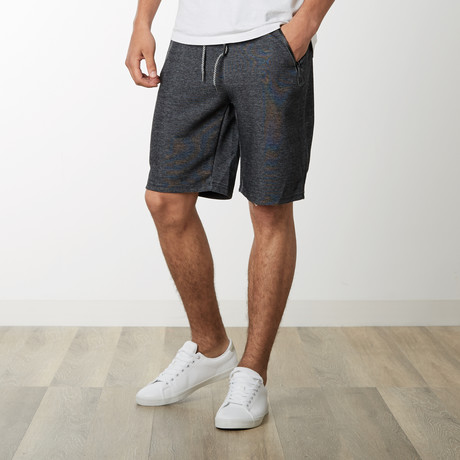 Zipper Pocket Sweatshorts // Heather Gray + Black (S)