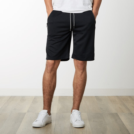 Zipper Pocket Sweatshorts // Black (S)