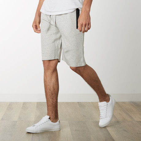 Tech Fleece High Grade Mesh Accent Shorts // Heather Gray