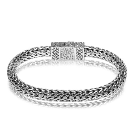 "Classic Silver Chain Bracelet (Medium // 8"")"