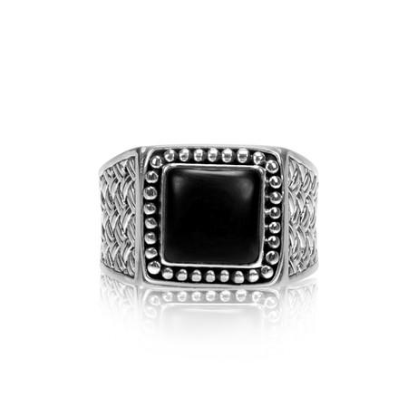 Gentleman's Signet Ring + Onyx (Size 8)