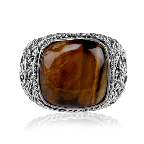 Tiger Eye Ring (Size 8)