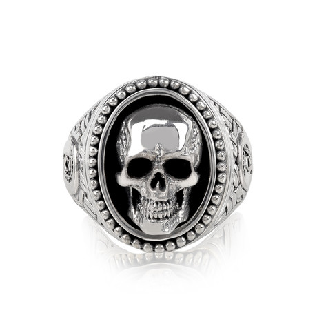 Skull Head Signet Ring (Size 8)