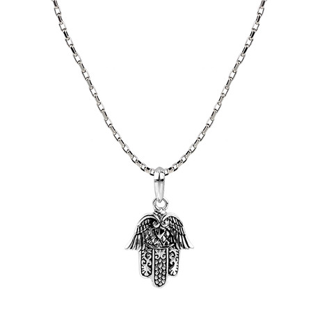 Hamsa Pendant + Chain // 26 Inch