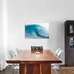 """Plunging Waves I, Sout Pacific Ocean, Tahiti, French Polynes // Panoramic Images (26""""W x 18""""H x 0.75""""D)"""