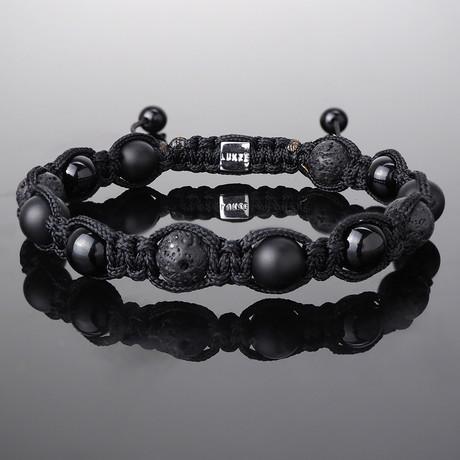 Triple Black Shamballa Bracelet