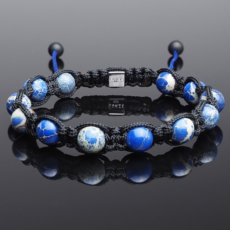 Impression Jasper Shamballa Bracelet (S)