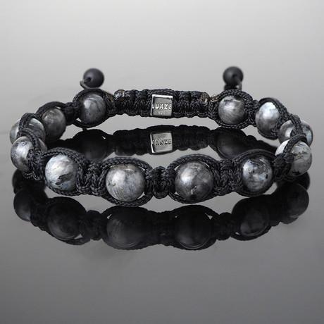 Larvikite Shamballa Bracelet (S)