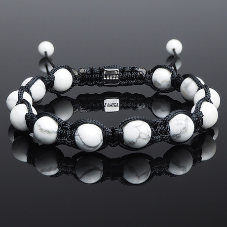 Howlite Shamballa Bracelet (S)