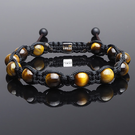 Yellow Tiger's Eye Shamballa Bracelet (S)