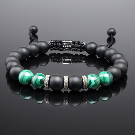 Malachite + Diamond Bracelet (S)