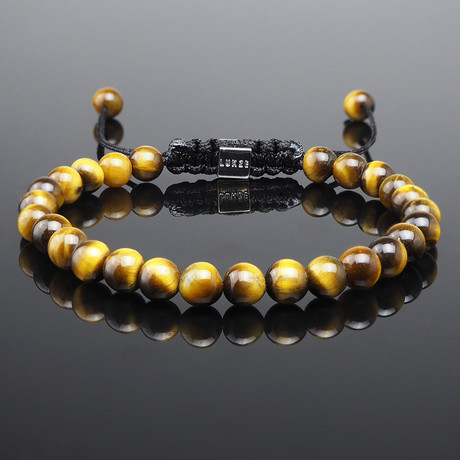 Minimal Yellow Tiger's Eye Bracelet (S)