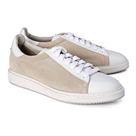 Men's Algiso Sneaker // Tan + White (Euro: 39)