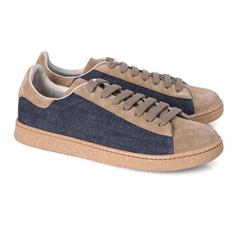 Men's Gerardo Denim Contrast Sneaker // Blue + Tan (Euro: 39)
