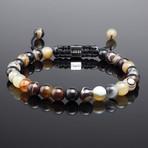 Minimal Striped Agate Bracelet (S)