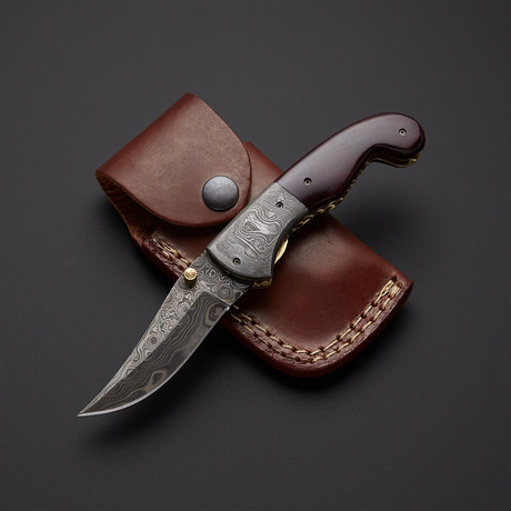 Autumn-bone Folding Knife