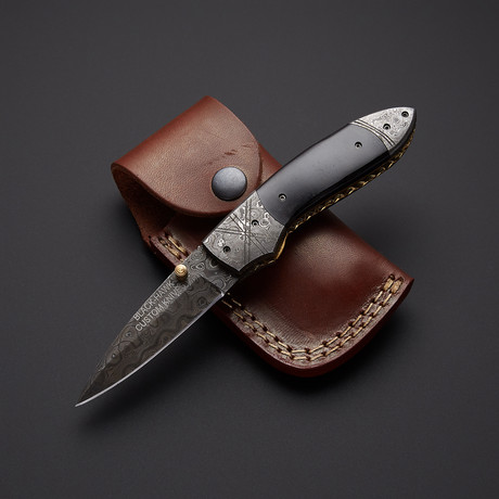 Black Bone Folding Knife