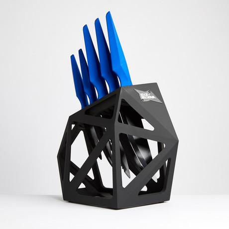 Blue Primal // 5 Piece Set + Knife Block