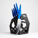 Blue Primal // 5 Piece Set + Knife Block