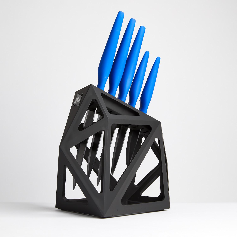 Blue Primal 5 Piece Set Knife Block