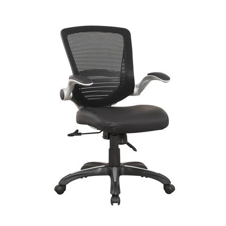Ergonomic Hillside Office Chair // Black PU Leather