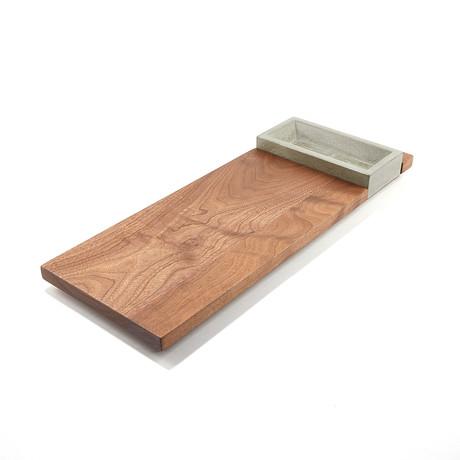 Appetizer Tray // Walnut + Concrete