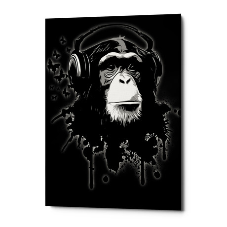 "Monkey Business // Black (12""W x 18""H x 0.75""D)"
