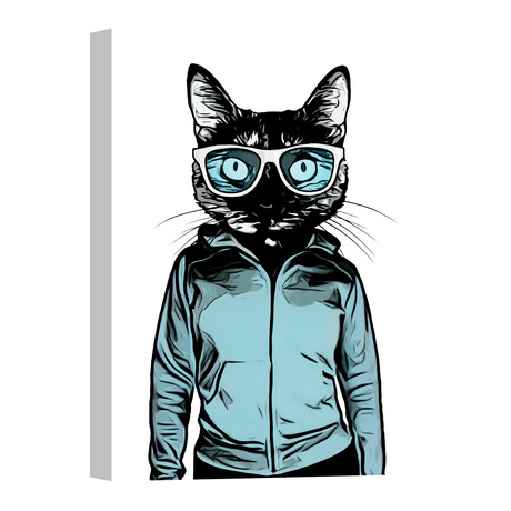 """Cool Cat (18""""W x 26""""H x 0.75""""D)"""