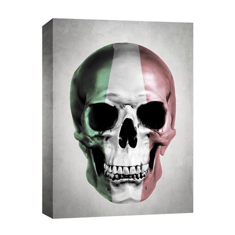 """Italian Skull // Gray (12""""W x 16""""H x 0.75""""D)"""