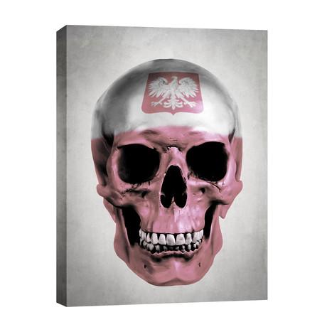 "Polish Skull // Gray (12""W x 16""H x 0.75""D)"