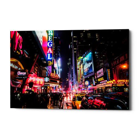 "Neon New York City (26""W x 18""H x 0.75""D)"