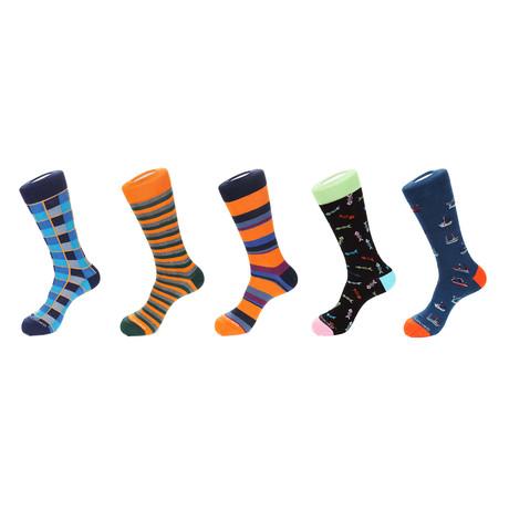 5 Pack Sock Crew Combo Set // 1025