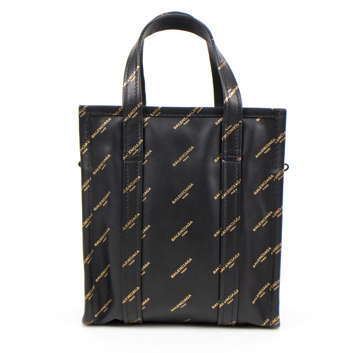 52296e4df1bf Bazar Shopper XS AJ Tote Bag    Black + Gold - Balenciaga - Touch of ...