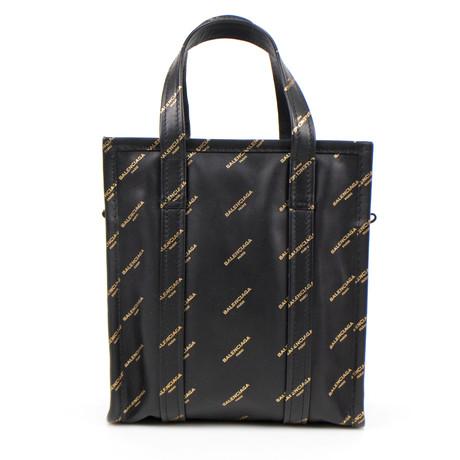 Bazar Shopper XS AJ Tote Bag // Black + Gold
