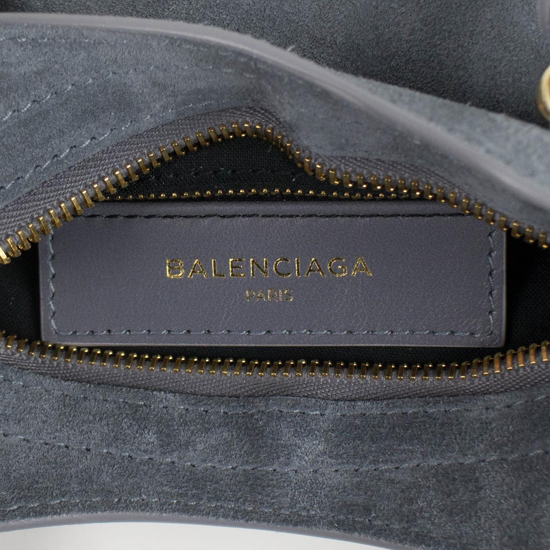 1a14ffcb44 Suede Metallic Mini City AJ Shoulder Bag    Blue - Balenciaga ...